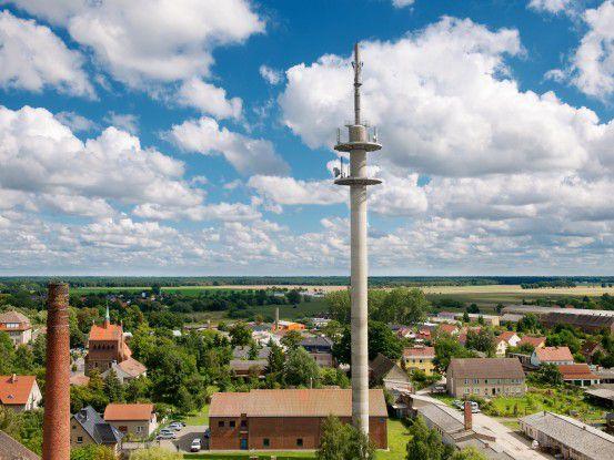 Erster LTE-Sendemast der Telekom in Kyritz, Brandenburg