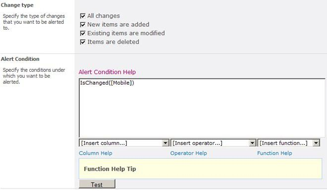 Die Settings im SharePoint Alert Reminder Boost.