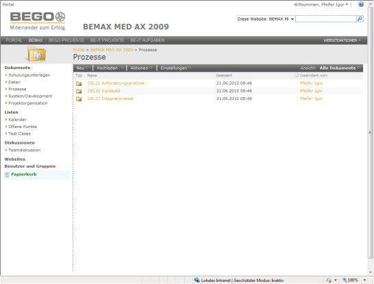 SharePoint-Online-Implementierung für BEGO.