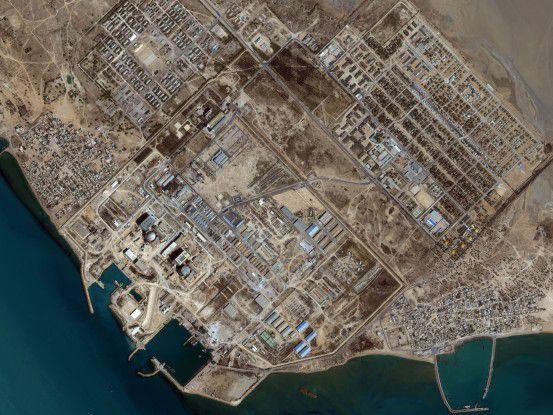 Die iranische Atomanlage in Buschsehr aus der Luft (Foto: iranwatch.org)