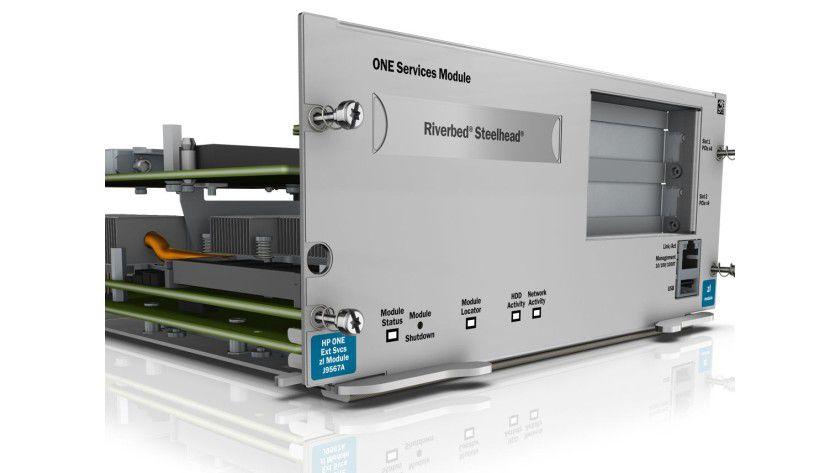 Branch Office Solution: In der Appliance bündelt HP etablierte Systeme zu einer vorkonfigurierten Lösung, wie beispielweise den WAN-Beschleuniger Riverbed Steelhead.