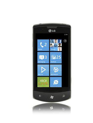 """Das WP7-Telefon """"LG Optimus"""" gibt es hierzulande bei der Telekom."""