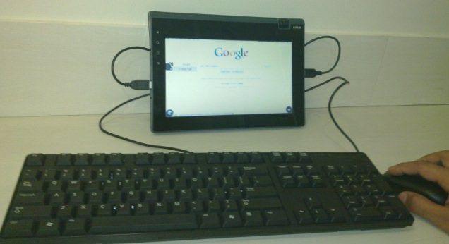 Das Tablet Adam mit Android-Betriebssystem läuft angeblich mindestens 15 Stunden am Stück.
