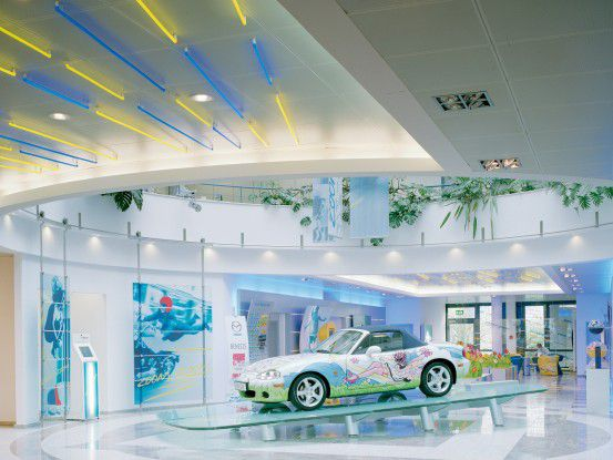 Der Showroom von Mazda Europe