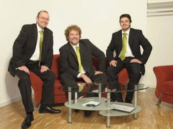 Die Gründer von protected-networks: Stephan Brack, Christian Zander und Thomas Gomell (v. l. n. r.) wagten den Sprung ins kalte Wasser.