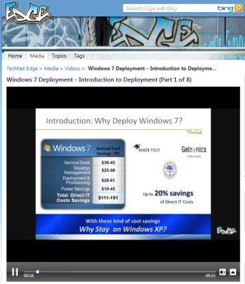 Viele Screencasts im Microsoft Technet erklären anschaulich den Einsatz der Deployment-Tools.