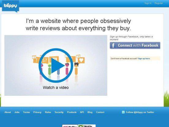 Blippy: Eine Website, auf der obsessiv über Käufe kommuniziert wird.