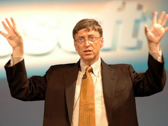 Microsoft-Gründer Bill Gates hat schon längst die Charity-Spendierhosen an.