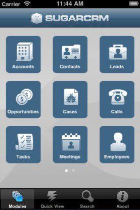 Die Firma SugarCRM hat ihren iPhone-Client mithilfe von Titanium Mobile realisiert. Die Anwendung ist im App Store erhältlich.