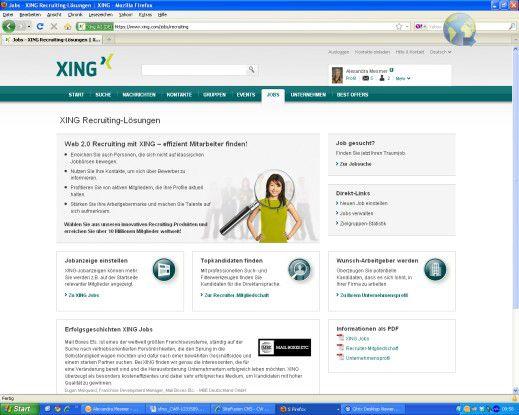 Xing nutzen IT-Manager, um Profile abzugleichen oder um Kontakt zu potenziellen Kandidaten anzubahnen.