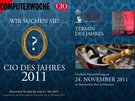 """Unser Flyer zum Wettbewerb sagt Ihnen, wie Sie """"CIO des Jahres 2011"""" werden."""
