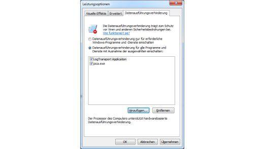 Die Datenausführungsverhinderung in Windows im Zusammenspiel mit der passenden Hardware bietet sich zu weiteren Erhöhung der Sicherheit im Unternehmensnetzwerk an.
