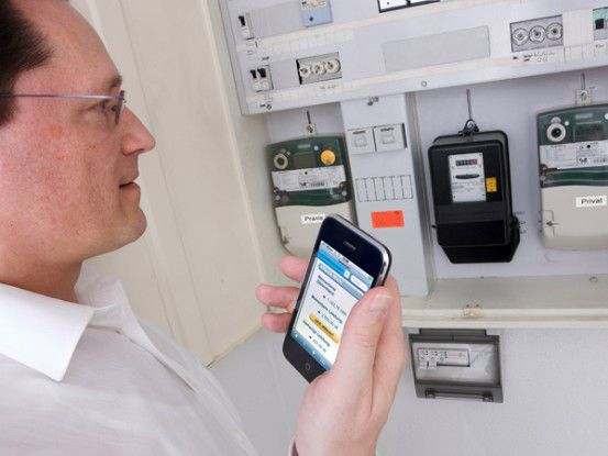 Intelligente Stromablesung per E-Metering zuhause.