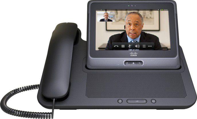 Telefone wie das Cisco Cius haben Bildtelefonie schon eingebaut.