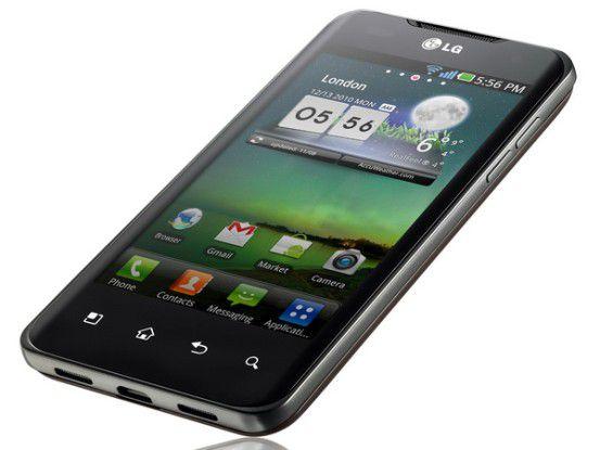"""Superschnell, superflach, supergroß: Der Trend geht zu Smartphones in """"Übergröße"""" wie dem LG Optimus Speed"""