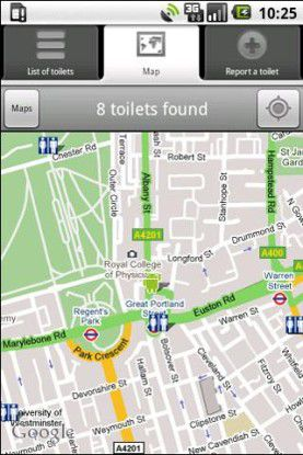 Toiletten Finder für Android