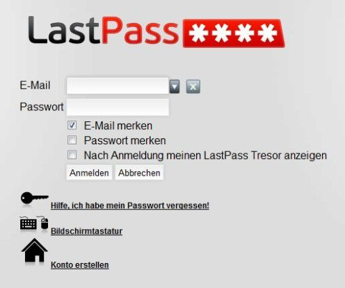 Passwort-Management auf Browser-Basis.