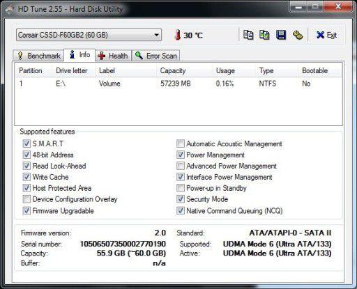 Läuft mit der Sandforce-Firmware 2.0: Corsair Force F60
