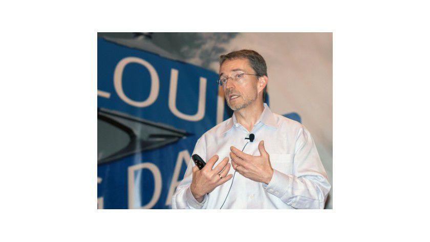 Demonstrierte Leistung: CTO Pat Gelsinger zeigte während der EMC World 2011 unter anderem, wie leistungsfähig die Greenplum-Hadoop-Appliance in der Praxis ist.