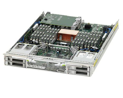 Nach wie vor beliebt: In Oracles Blade Sun T6320 steckt eine Sparc-CPU. Oracle will an den von Sun übernommenen Prozessoren auch in Zukunft festhalten.