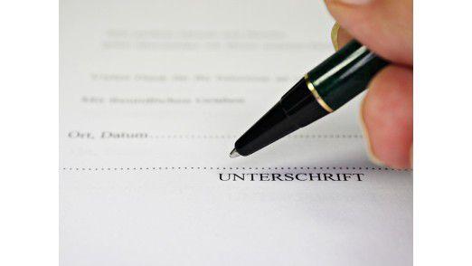 Die echte Unterschrift ist bei Rechnungen mittlerweile von der elektronischen Signatur abgelöst worden.