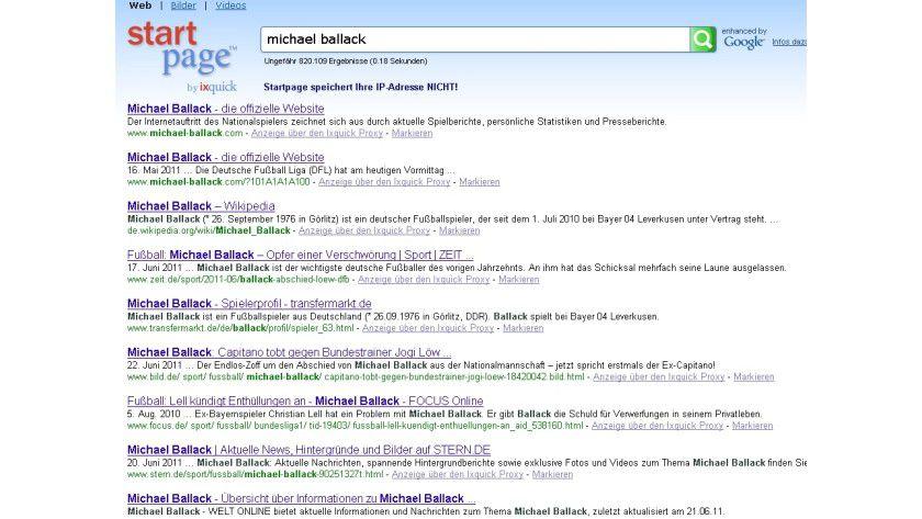 """Sicherer suchen mit Startpage: Die Datenschutz-Suchmaschine ist jetzt """"enhanced by Google""""."""