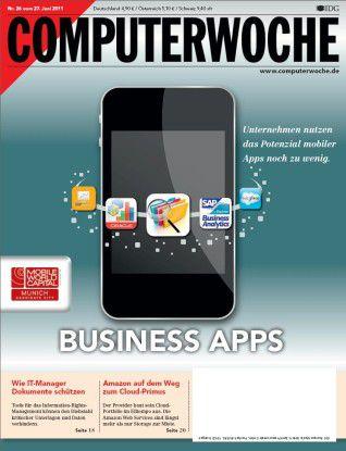 """Das aktuelle Titelbild der COMPUTERWOCHE 26/11, Titel """"Business Apps"""""""