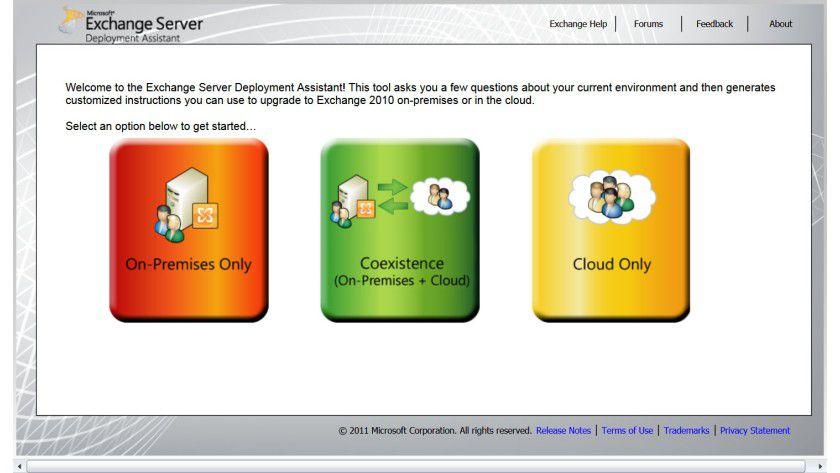 Hilfreich: Der Exchange Server Deployment Assistant unterstützt Sie bei der Migration.