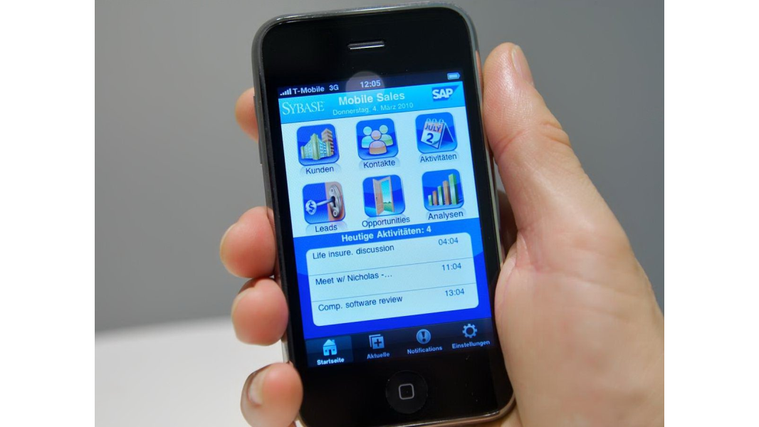 Die mobile sap crm l sung mobile sales mobile sales for Sap jobs gehalt