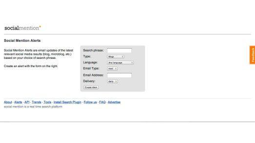 Wer zu einem Thema auf dem Laufenden bleiben will, richtet sich einen Alert ein, der per E-Mail benachrichtigt.