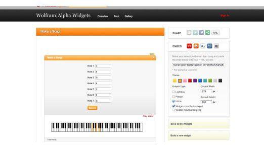 Widgets helfen in vielen Situationen, hier beim Komponieren von Musik.
