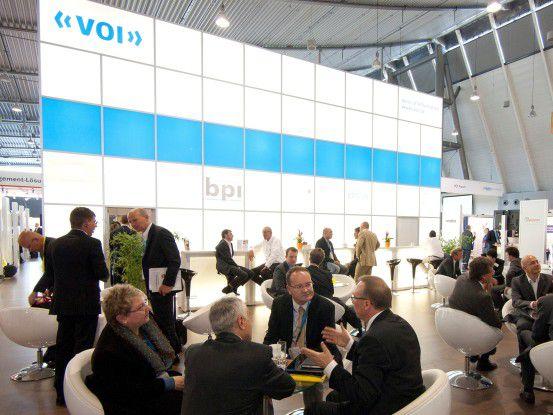 VOI-Stand auf der DMS Expo: Der Bitkom startete zeitgleich eine eigene ECM-Initiative.
