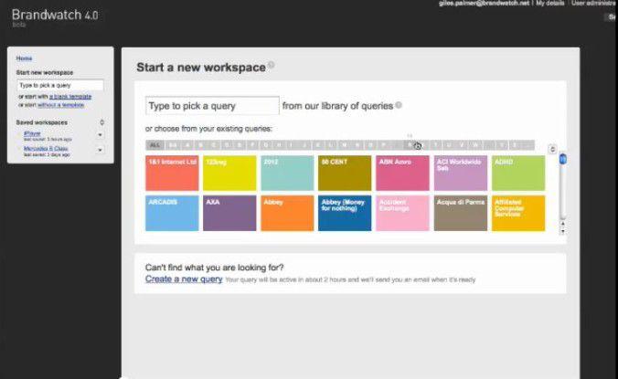Brandwatch überwacht eine Vielzahl von Quellen, von Blogs über Firmen-Web-Sites bis hin zu Social-Media-Plattformen.