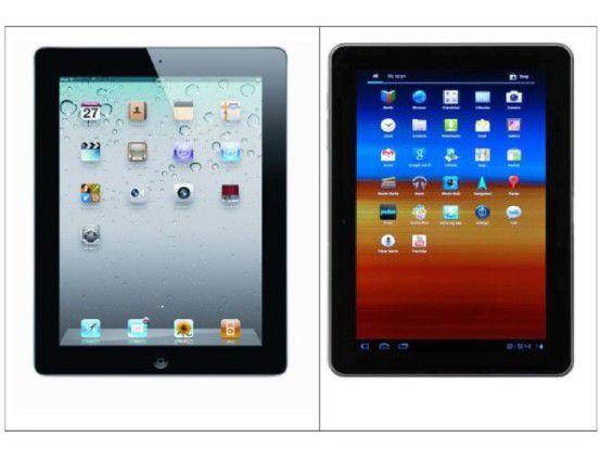 iPad und Samsung Galaxy Tab 10.1 im Vergleich