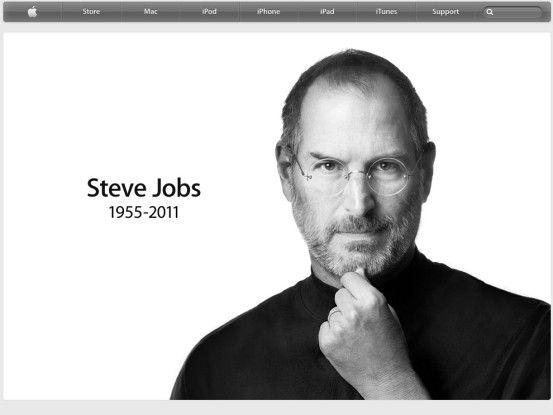 Apple kondoliert auf seiner Homepage.