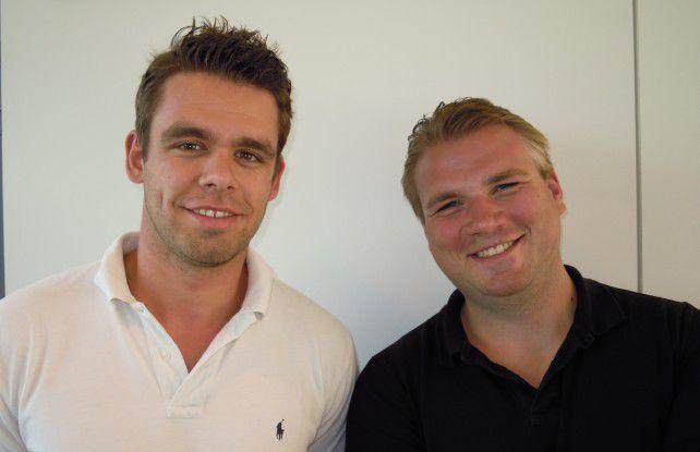 Die beiden Existenzgründer Julian Faupel (links) und Erik Reisig (rechts)