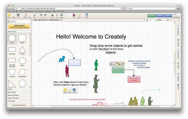 Creately, eine Fundgrube für verschiedenste Diagrammtypen.