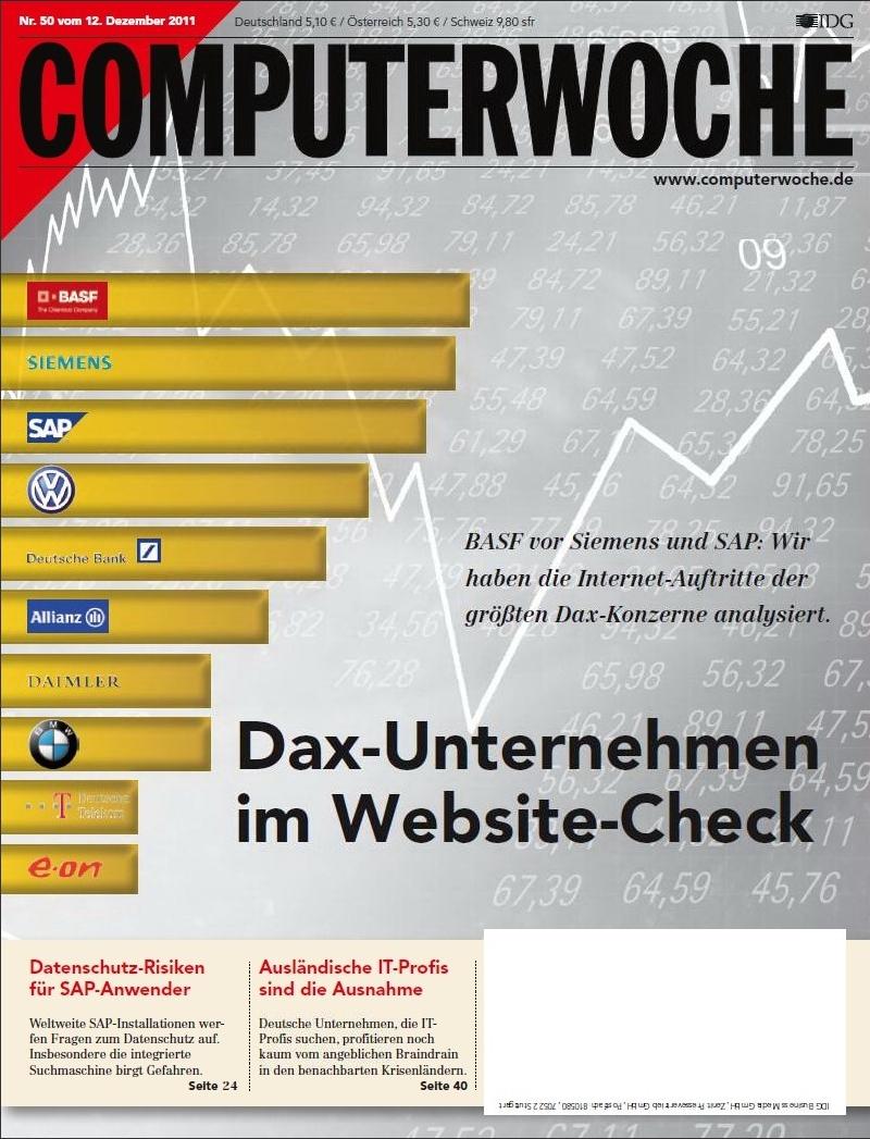COMPUTERWOCHE 50/2011 Cover