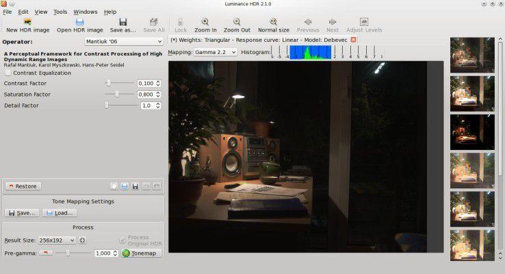 Luminance HDR macht HDR-Fotografie für jedermann möglich.