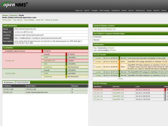 Die Administration von OpenNMS erfolgt primär über eine grafische Weboberfläche - dennoch sollte Linux-Know-how vorhanden sein, denn viele Einstellungen werden direkt in den Systemdateien vorgenommen.