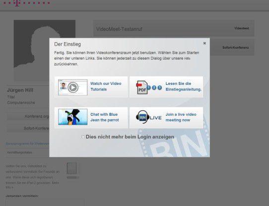 Bei der Einrichtung helfen dem Anwender online hinterlegte Anleitungen weiter.