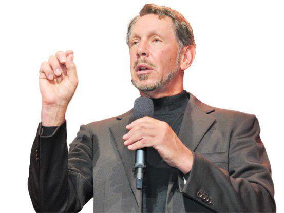 Oracle-CEO Ellison wirbt für die Cloud-Angebote des Konzerns.