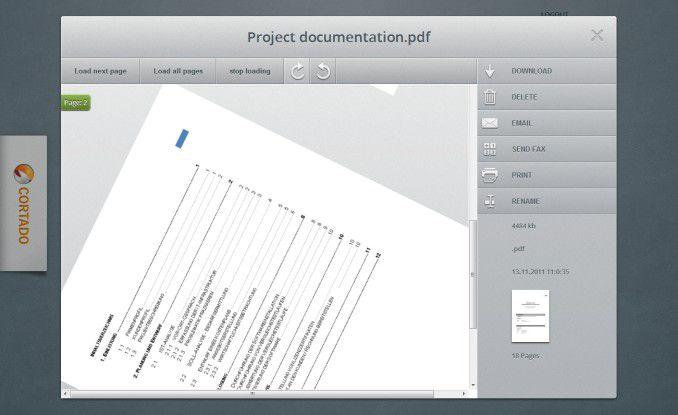 Cortado Workplace: Dokumentenvorschau mit der Möglichkeit zur Rotation - alles dank HTML5.
