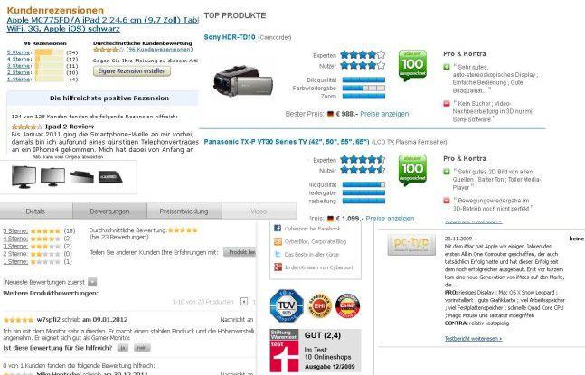 20 bis 30 Prozent der Kundenbewertungen im Netz sollen gekauft sein.