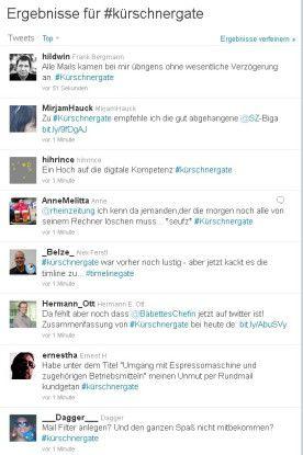 """Über den Hashtag """"#kürschnergate"""" tauschen sich Geschädigte und Beobachter belustigt aus."""