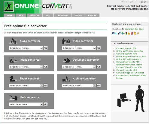 Praktisches Konvertierungs-Tool aus dem Web.