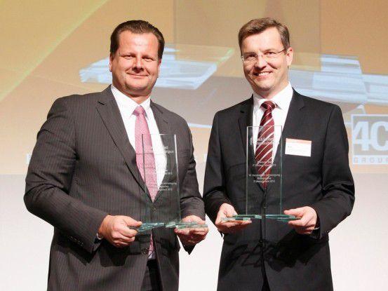 Oliver Bussmann (links) und Werner Merkl teilen sich den Award