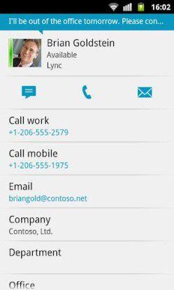 Die Lync-Android-App.