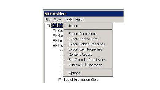 Im- und Export von Rechten.