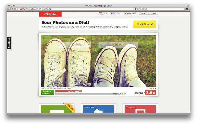 Wer JPEG-Bilder verkleinern möchte, sollte auf JPEGmini zurückgreifen.